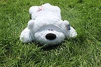 Лежачий мишка Физзи Мун 95 см.Мягкая ирушка.Плюшевый мишка.Мягкая игрушка украина.игрушка медведь белый с розовой пуговкой