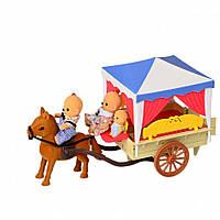 Карета с лошадью  Happy Family IF257 и семья с малышом)