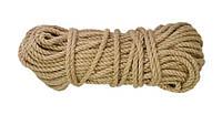 Канат, канат джутовый, веревка, витой, бытовой, декоративный 8 мм