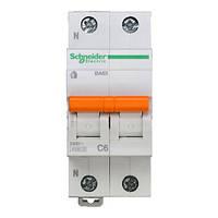 Автоматический выключатель ВА63 1P+N 6A C 11211 Домовой Schneider