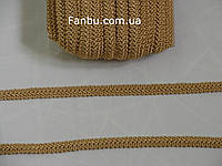 """Цветная тесьма """"шанель шубная"""" песочная(под золото) ,ширина 1.2см(1упаковка-50метров)"""
