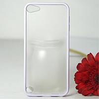Чехол накладка пластик PC+TPU Combo для Apple iPod Touch 5 6 Gen белый