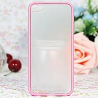 Чехол накладка пластик PC+TPU Combo для Apple iPod Touch 5 6 Gen розовый