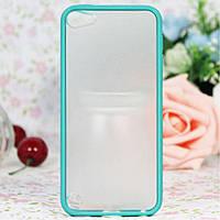 Чехол накладка пластик PC+TPU Combo для Apple iPod Touch 5 6 Gen голубой