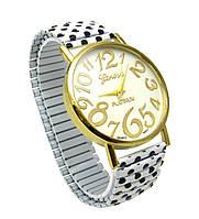 Часы женские наручные кварцевые в горошек с пружинистым ремешком
