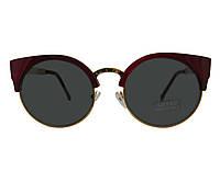 """Солнцезащитные очки женские брендовые """"Lutou"""" коричнево-золотая оправа"""