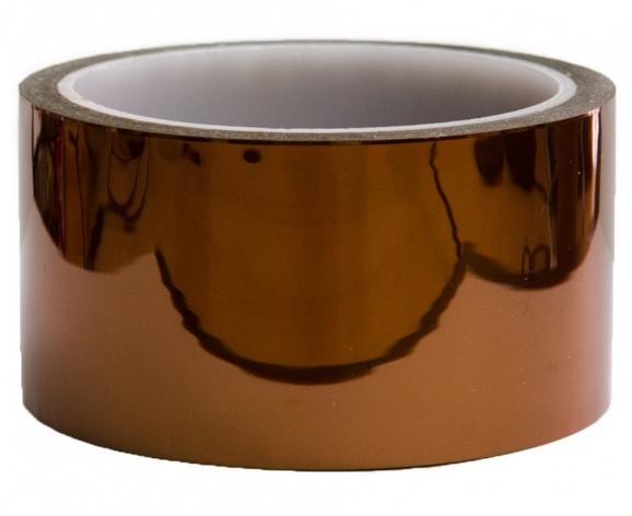 Термостойкий скотч Kapton (каптоновая лента) высокотемпературная полиамидная лента 50 мм 33 м, фото 2