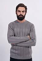 Классический мужской джемпер с длинным рукавом