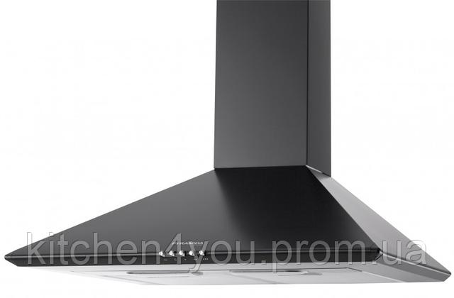 Pyramida Basic casa 60-K (600 мм.) купольная кухонная вытяжка, с декоративным кужухом, черная эмаль