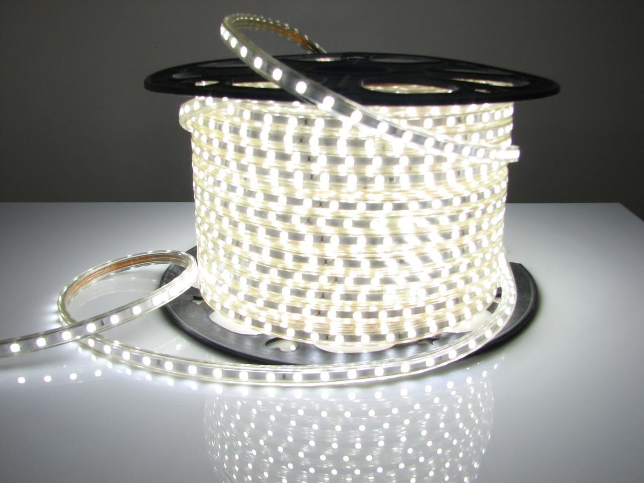 Светодиодная лента LED 5050 Белая 100m 12V гибкая лента в силиконе