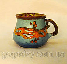"Горнятко кавове, декор ""Крайка"" блакитне"