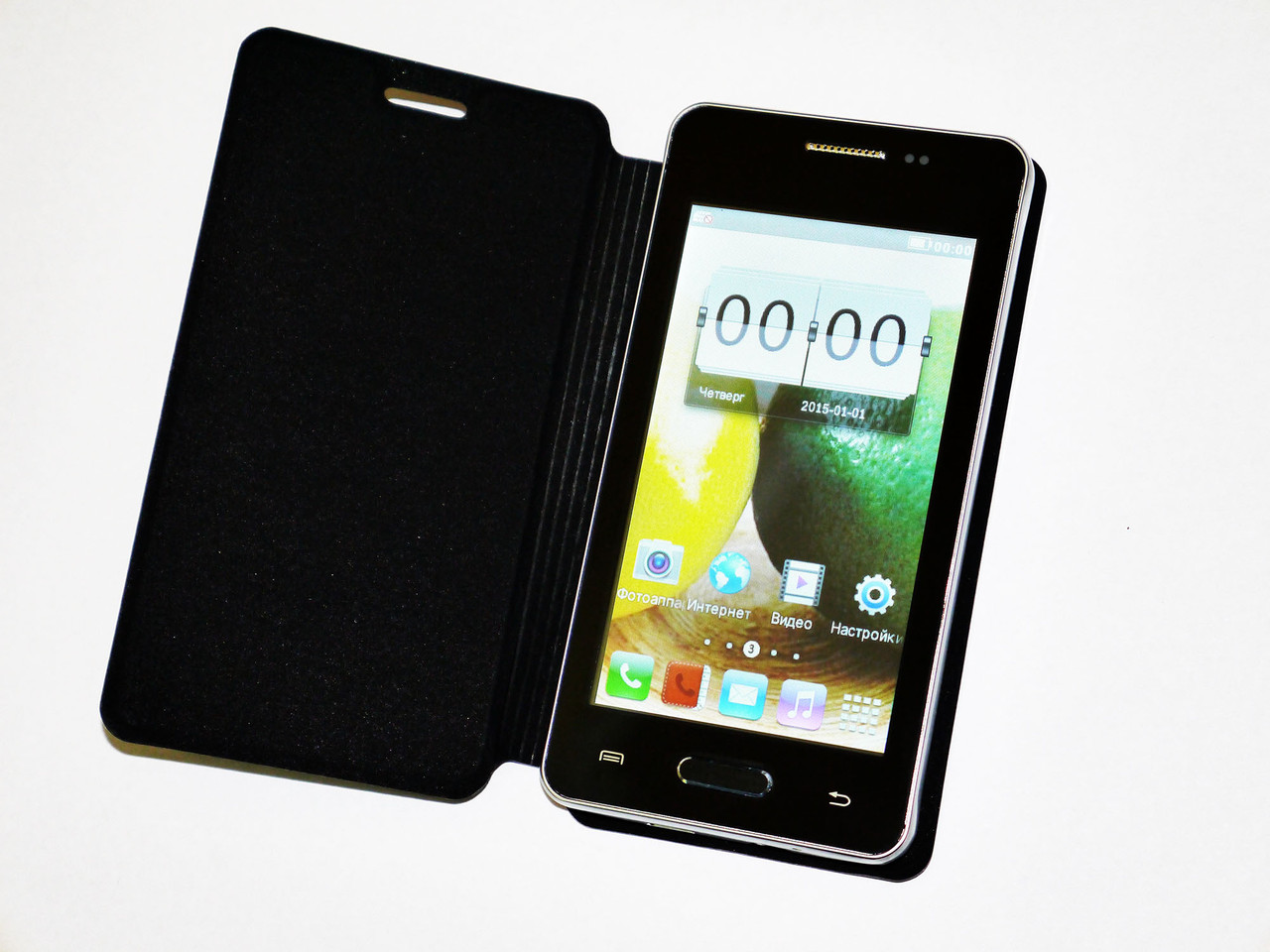 Телефон Samsung Note - 2Sim+4'' емкостный+ЧЕХОЛ