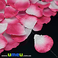 Лепестки розы, 50х50 мм, Малиново-белые, 10 г (DIF-015337)