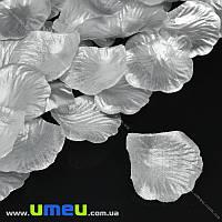Лепестки розы, 50х50 мм, Серебристые, 10 г (DIF-015349)