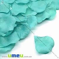 Лепестки розы, 50х50 мм, Бирюзовые, 10 г (DIF-015347)