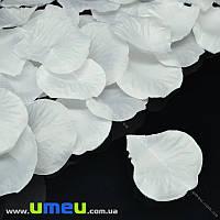Лепестки розы, 50х50 мм, Белые, 10 г (DIF-015348)