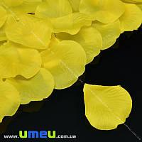 Лепестки розы, 50х50 мм, Желтые, 10 г (DIF-015340)