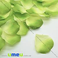Лепестки розы, 50х50 мм, Салатовые, 10 г (DIF-015351)