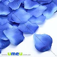 Лепестки розы, 50х50 мм, Сине-голубые, 10 г (DIF-015350)