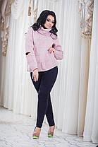В2024 Свитер с прорезями Розовый, фото 3