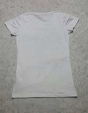 Белая футболка для девочек  Шопинг, фото 2