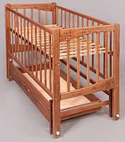 Детская кроватка Кристинка плюс, шарнир-подшипник, бук,