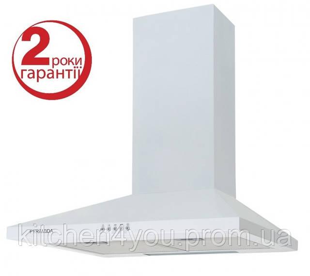 Pyramida KS-60 (600 мм.)цвет белая эмаль, купольная, кухонная вытяжка