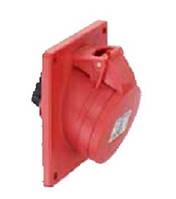 Силовая фланцевая розетка 16 А ампер IP44 3P+N+E пять полюсов 400В цена купить силовые промышленные разъемы