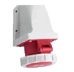 Силовая накладная розетка 32 А ампер IP67 3P+E четыре полюса 400В цена купить силовые промышленные разъемы