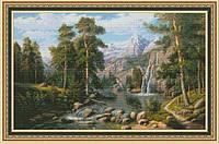 Набор для вышивания нитками Озеро в горах 1101