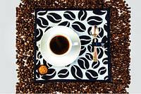 Набор подтарелочников Кофе (белый)