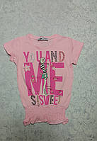 Стильная футболка для девочек 116,122,128,134,140 роста МЕ