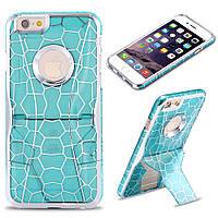 Чехол для iPhone 5/5S Luxury Hard Geometry Water Cube голубой, Винница