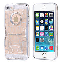 Чехол для iPhone 5/5S Luxury Hard Geometry Water Cube Clear