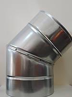 "Угол с теплоизоляцией 45°(сэндвич"") для дымохода нерж/нерж 0,8 мм 130/200"