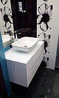 Подвесная тумба в ванную комнату Белый глянец, фото 1