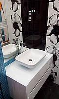 Подвесная тумба в ванную комнату Белый глянец