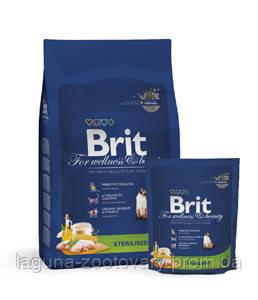 Брит Премиум Стерилизед 8кг - повседневный сухой корм для кастрированных/стеризованных кошек