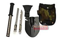 Складная лопата в чехле 4 в 1 лопата - топор- нож - пила , фото 1