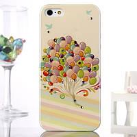 Чехол-накладка силикон Воздушные шары с камнями Swarovski для iphone 5/5S