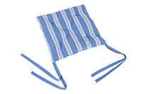 Подушка на табурет на завязках голубая.