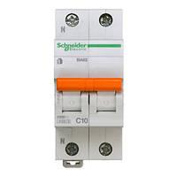 Автоматический выключатель ВА63 1P+N 10A C 11212 Домовой Schneider