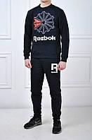 Спортивный костюм Reebok мужской черный с картинкой