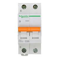Автоматический выключатель ВА63 1P+N 25A C 11215 Домовой Schneider