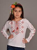 "Вышиванка футболка для девочки ""Орнамент"" ДЛ002"