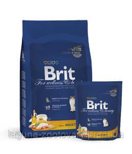 Брит Премиум Курица 8кг - повседневный сухой корм для взрослых кошек