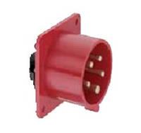 Силовая кабельная вилка 16 А ампер IP44 3P+E четыре полюса 400В цена купить силовые промышленные разъемы