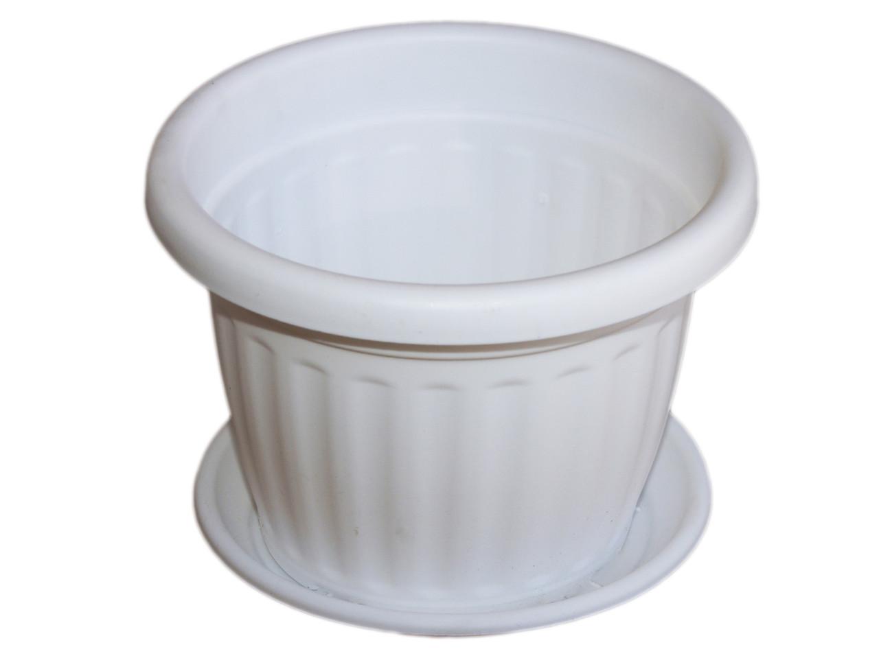 Вазон с подставкой Ø30 см. (белый) - MАRS.oрt в Закарпатской области