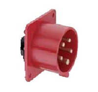 Силовая кабельная вилка 32 А ампер IP44 3P+E четыре полюса 400В цена купить силовые промышленные разъемы