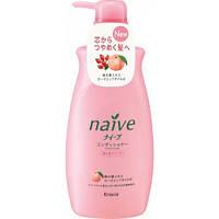 Kanebo - Бальзам-ополаскиватель для сухих волос с экстрактом персика и маслом шиповника Naive 550ml (оригинал)
